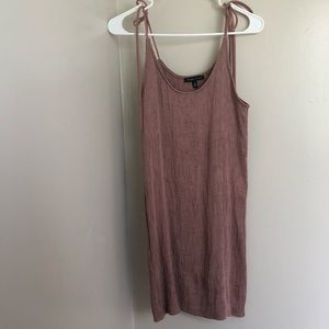 Kendall & Kylie Pink Ribbed Tank Dress